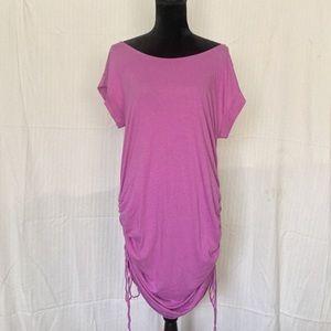 Cute and comfy mauve cinch dress